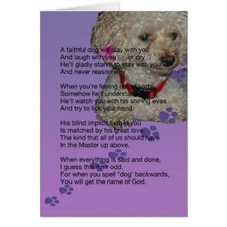 Beileid für Hund Karte