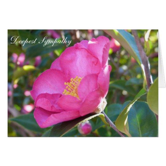 Beileids-Blume Grußkarte