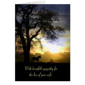 Beileids-Karte für Verlust des Ehefrau-Pferds und Grußkarte