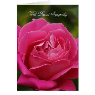 Beileids-Karte mit rosa Rose Karte
