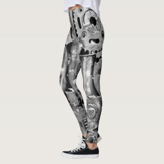 Beine der bionischen Frau der Metallteile Leggings