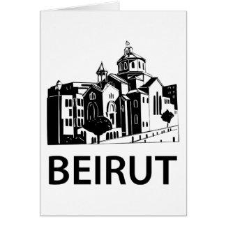 Beirut Grußkarte