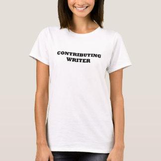 Beitragender Verfasser, der aquamarine Dame Parts T-Shirt