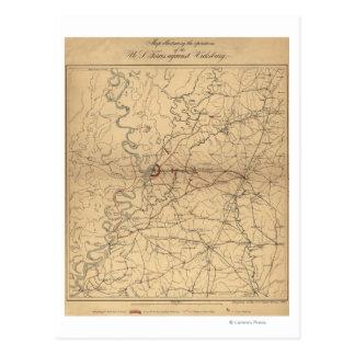 Belagerung von Vicksburg - ziviler Postkarte