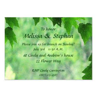 Belaubter Hochzeits-Brunch 12,7 X 17,8 Cm Einladungskarte