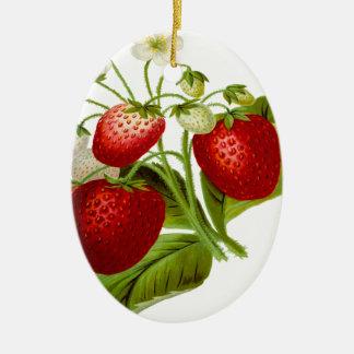 Belaubtes Blätter des Nahrungsmittelfrucht-Blattes Ovales Keramik Ornament
