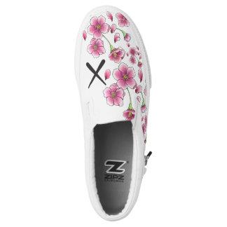 Beleg der Kirschblüte X auf Schuhen Slip-On Sneaker