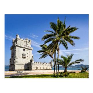 Belem-Turm, Lissabon, Portugal Postkarte