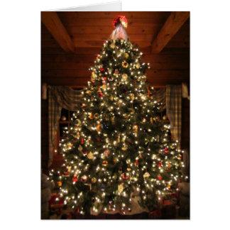 Beleuchtete Weihnachtsbaum-Karte Grußkarte
