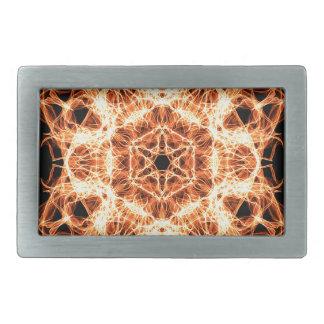 Beleuchtungs-Mandala Rechteckige Gürtelschnalle