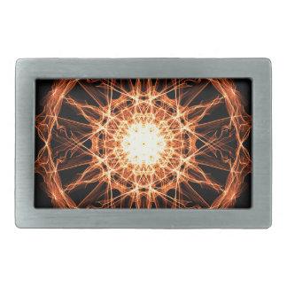 Beleuchtungs-Mandala Rechteckige Gürtelschnallen