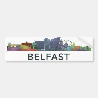 Belfast bumber Aufkleber Autoaufkleber