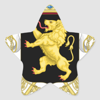Belgien-Emblem-Wappen - Armoiries Belgique Stern-Aufkleber