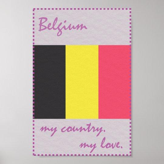 Belgien mein Land meine Liebe Poster