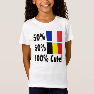 Belgier 100% 50% Franzose-50% niedlich T-Shirt
