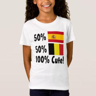 Belgier 100% 50% Spanisch-50% niedlich T-Shirt