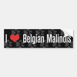 Belgier I (Herz) Malinois Autoaufkleber