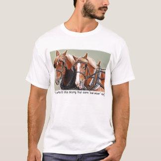 Belgische Entwurfs-Pferdebeanstandung T-Shirt