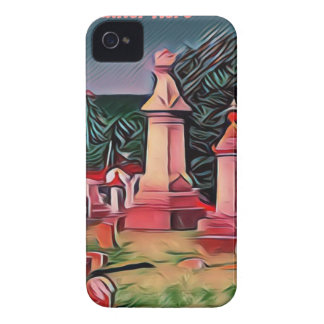 Belichtete Graveyard-Grabsteine iPhone 4 Case-Mate Hülle