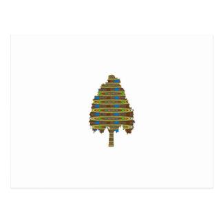 BELICHTETER rotierender Baum: Grafische Kunst Postkarte
