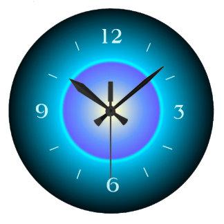 Belichtetes Entwurfs-Grün/Aqua/Purple>Wall Uhr