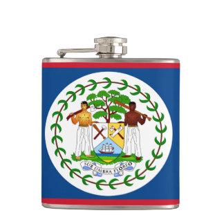 Belize-Flagge Flachmann