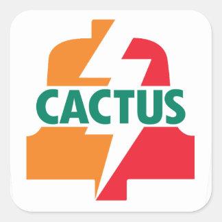 Bell-Aufkleber deisgn des Kaktus-elf durch Quadratischer Aufkleber