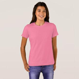 Bella des filles+T-shirt d'équipage de toile T-shirt
