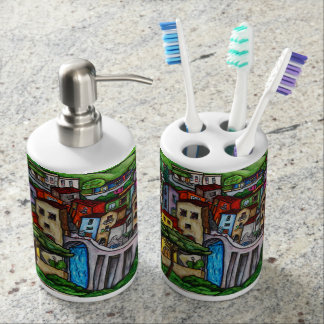 Bella Guardia Seifenspender & Zahnbürstenhalter