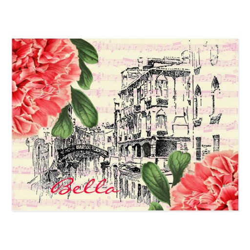Bella Italien Pfingstrose Postkarte