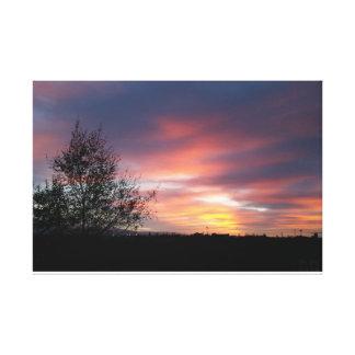 Belle affiche de coucher du soleil toiles