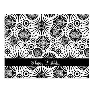 Belle rétro carte postale noire et blanche