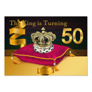 Bemannt 50. Geburtstags-Party König-Theme 12,7 X 17,8 Cm Einladungskarte