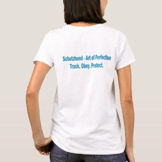 Bemühung Schutzhund Verein-Logo-kurzes T-Shirt