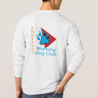 Bemühungs-Funktions-Hundeverein-Logo-langes T-Shirt