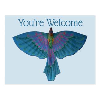 Bemühungs-Papagei Postkarte