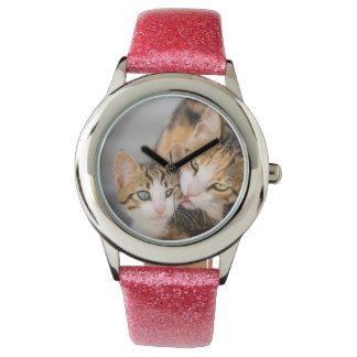 Bemuttern Sie Katzen-Liebe-niedliches Armbanduhr