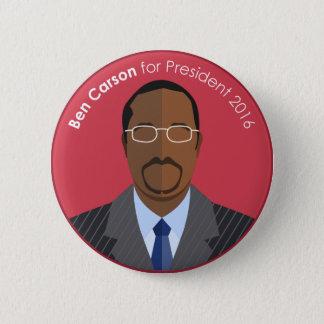 Ben Carson 2016 für Präsidentengewohnheitsknopf Runder Button 5,7 Cm