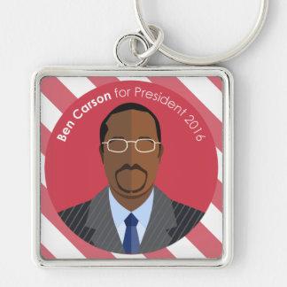 Ben Carson 2016 für Präsidentenkundenspezifische Schlüsselanhänger