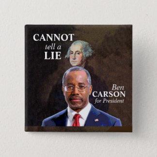 Ben Carson für Präsidenten Quadratischer Button 5,1 Cm
