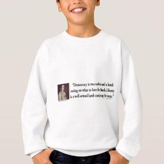 Ben Franklin auf Gewehr-Kontrolle Sweatshirt