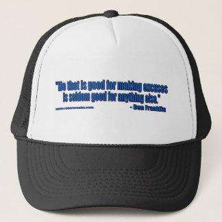 Ben Franklin - keine Entschuldigungen Truckerkappe