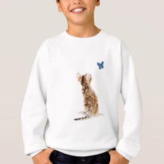 Bengalische Katze u. Schmetterling Sweatshirt
