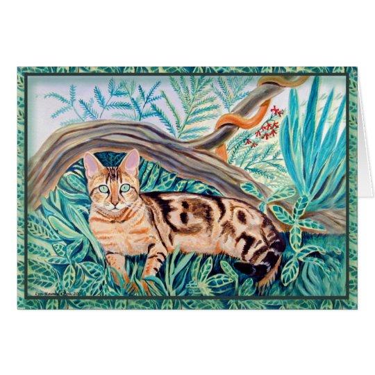 Bengalische Katzen-Gruß-Karten Grußkarte