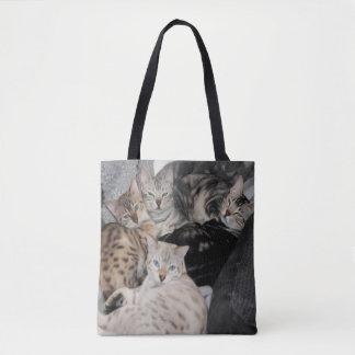 Bengalischer Katzekitty-Stapel Tasche