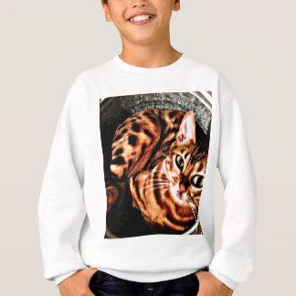 Bengalischer Katzen-Eimer-Druck Sweatshirt