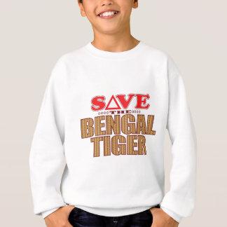 Bengalischer Tiger retten Sweatshirt