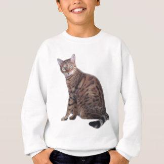 Bengalisches Katzen-Kleid Sweatshirt