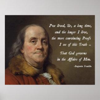 Benjamin Franklin-Gott Poster