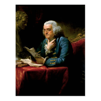 Benjamin Franklin-Porträt Postkarte
